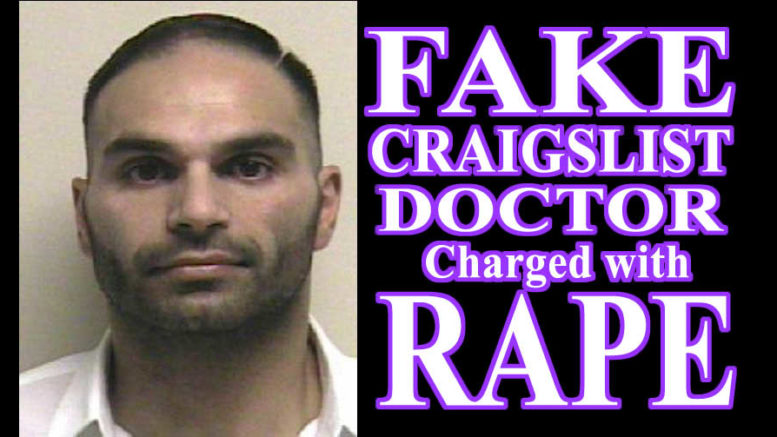 Borzin Mottaghian Fake Craigslist Doctor Charged with Rape